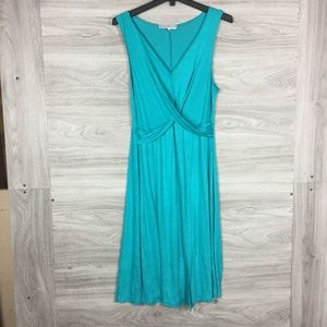 The Vanity Room Teal Midi Dress